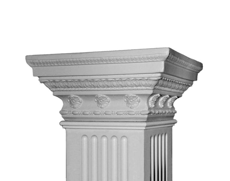 Square non tapered columns square columns pacific for Tapered columns